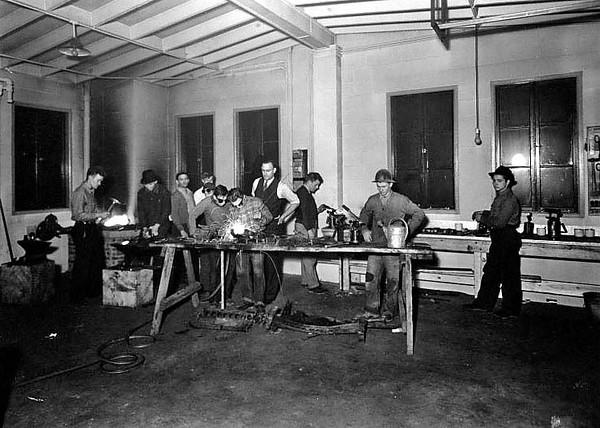 Welding in a Workshop in Grafton, W. Va.