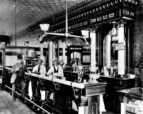 Interior of a Bar in Grafton, W. Va.<br /> Date ca. 1890