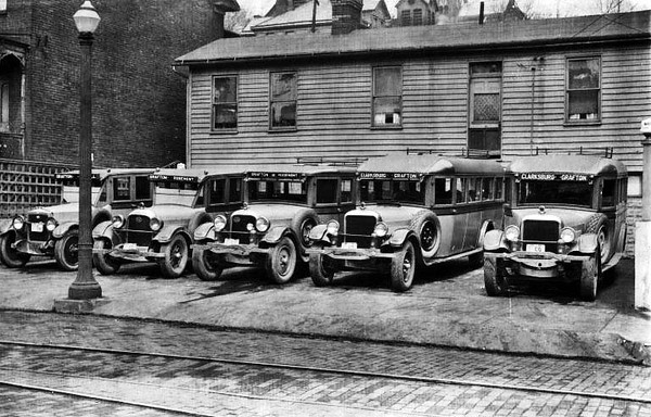 Bartlett Brothers Buses, Grafton, W. Va.<br /> Date 1927