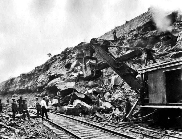 Empire Engineering Company Workers Moving Boulders, Grafton, W. Va.
