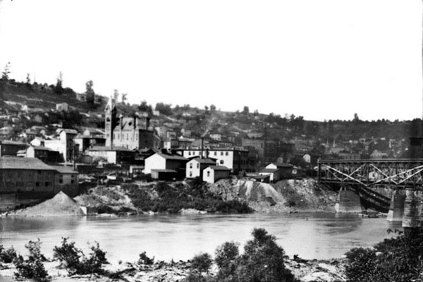 Grafton, W. Va. Viewed From Across the Tygart River<br /> Date ca. 1890