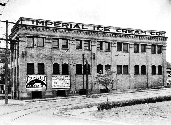 Date 1926 - Imperial Ice Cream Business on the corner of Beech Street and McGraw Avenue in Grafton, West Virginia.