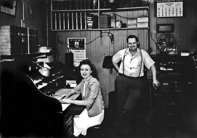 Woman&ManInOfficeGraftonWV1941