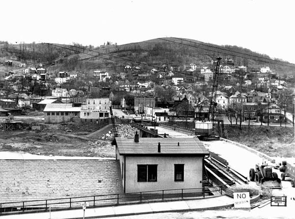 Demolition of Bridge in Grafton, W. Va.<br /> Date: 1962