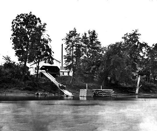 Sawmill Near Grafton, Taylor County, W. Va.<br /> Date ca. 1890