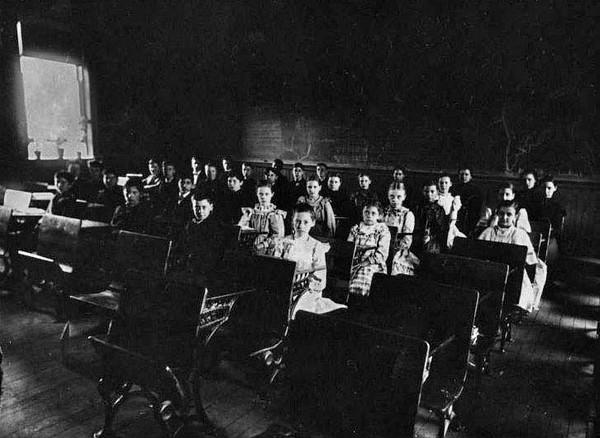 Students in a Classroom, Grafton, W. Va.<br /> Date ca. 1890