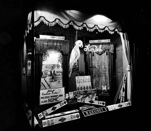 Window Display R.S. Kunst Store, Grafton, W. Va.<br /> Date 1925
