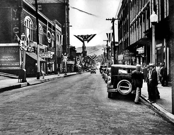 Corner of Latrobe Street and Main Street, Grafton, W. Va.