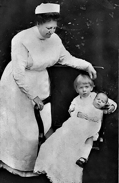 Nurse with Children, Barbour County, W. Va.