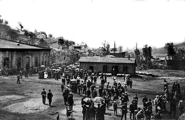 Crowd Gathered for an Unidentified Event in Grafton, W. Va.<br /> Date ca. 1890