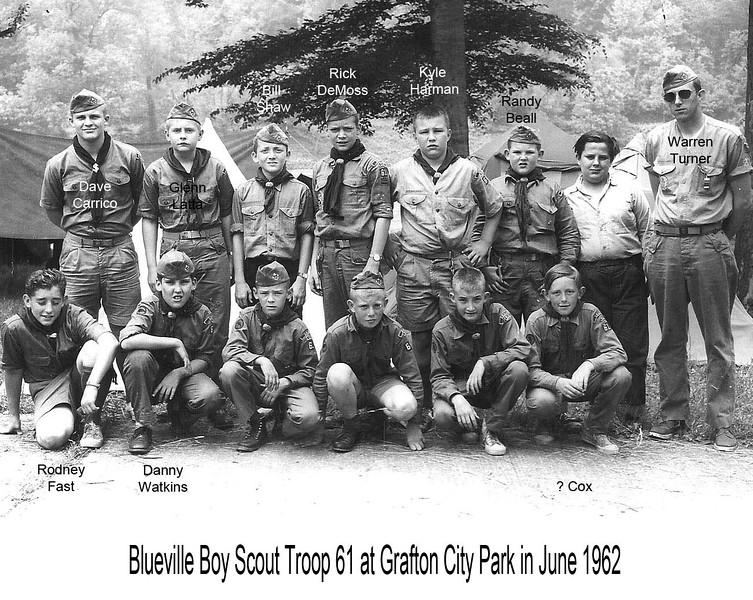 BluevilleScoutTroop61GraftonWV 1962