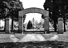 Loar Memorial Main Gate at Bluemont Cemetery, Grafton, W. Va.
