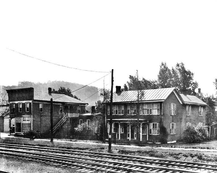 House across the railroad tracks on Pearl Street, Grafton, W. Va.