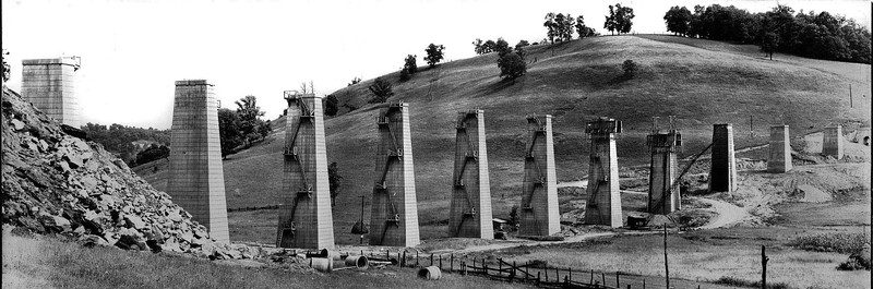 Construction of Pleasant Creek Railroad Tressel in Barbour County, WV