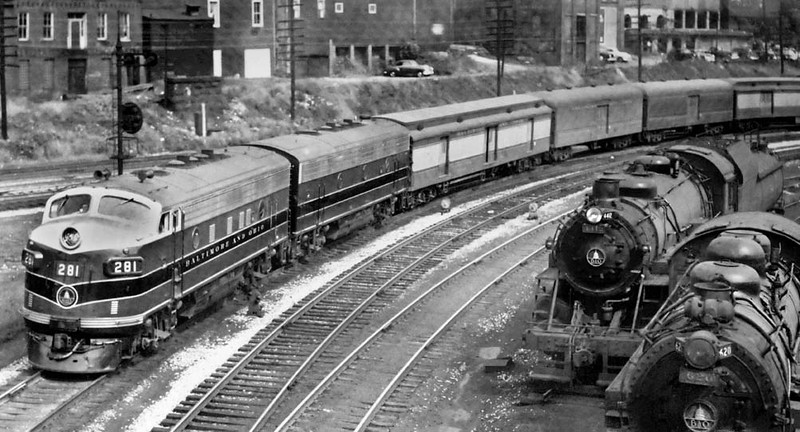 GraftonWV-B&OF7Locomotive281-1954-h2