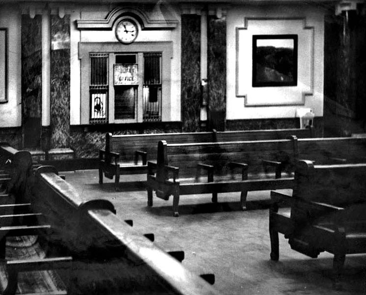 Interior of Grafton train station 1965.