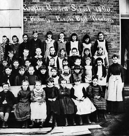 Class Photo Grafton Graded School Students with Their Teacher, Fannie Best<br /> Date ca. 1890