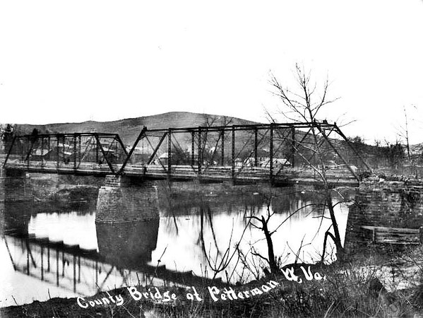County Bridge at Fetterman, W. Va.<br /> Date ca. 1890