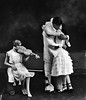 High school actors perform a romantic love scene from the play Prunella Grafton, WV.