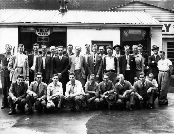 Grafton Men in Front of KellyTire Store, Grafton, W. Va.