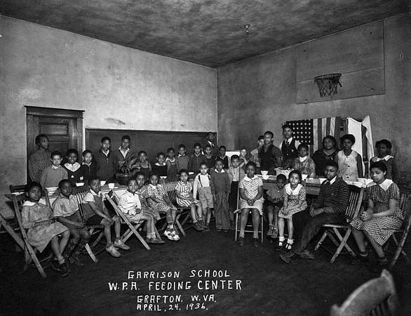 Garrison School, W. P. A. Feeding Center, in, Grafton, WV 1936