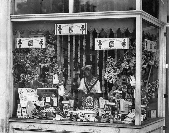 Store display for Gold Dust Powder in Grafton, W. Va.