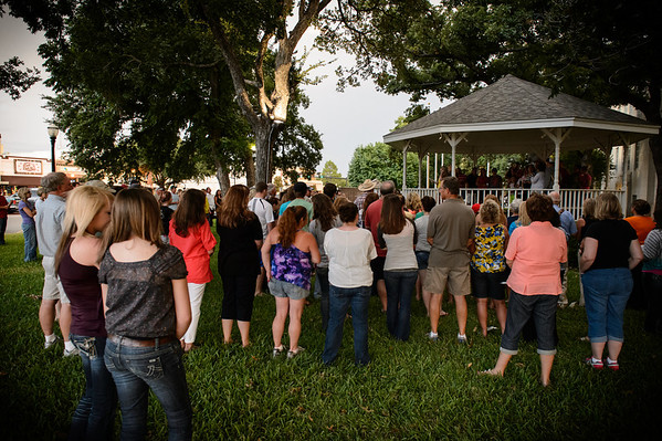 Candlelight for Amber Lindley at the Downtown Square in Graham, Texas on July 16, 2012