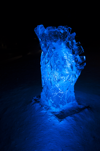 Lone Ice Scupture