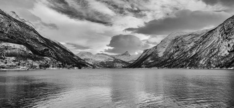Fjord in Black