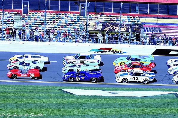 Historic Daytona 24 winners at Daytona International Speedway - January 28th, 2012.  Credit: PaddockTalk/Graham Smith