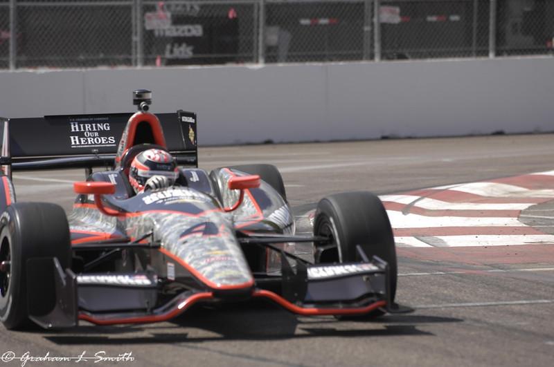 2012 IndyCar Friday action from St Petersburg, Florida. Credit: PaddockTalk/Graham Smith