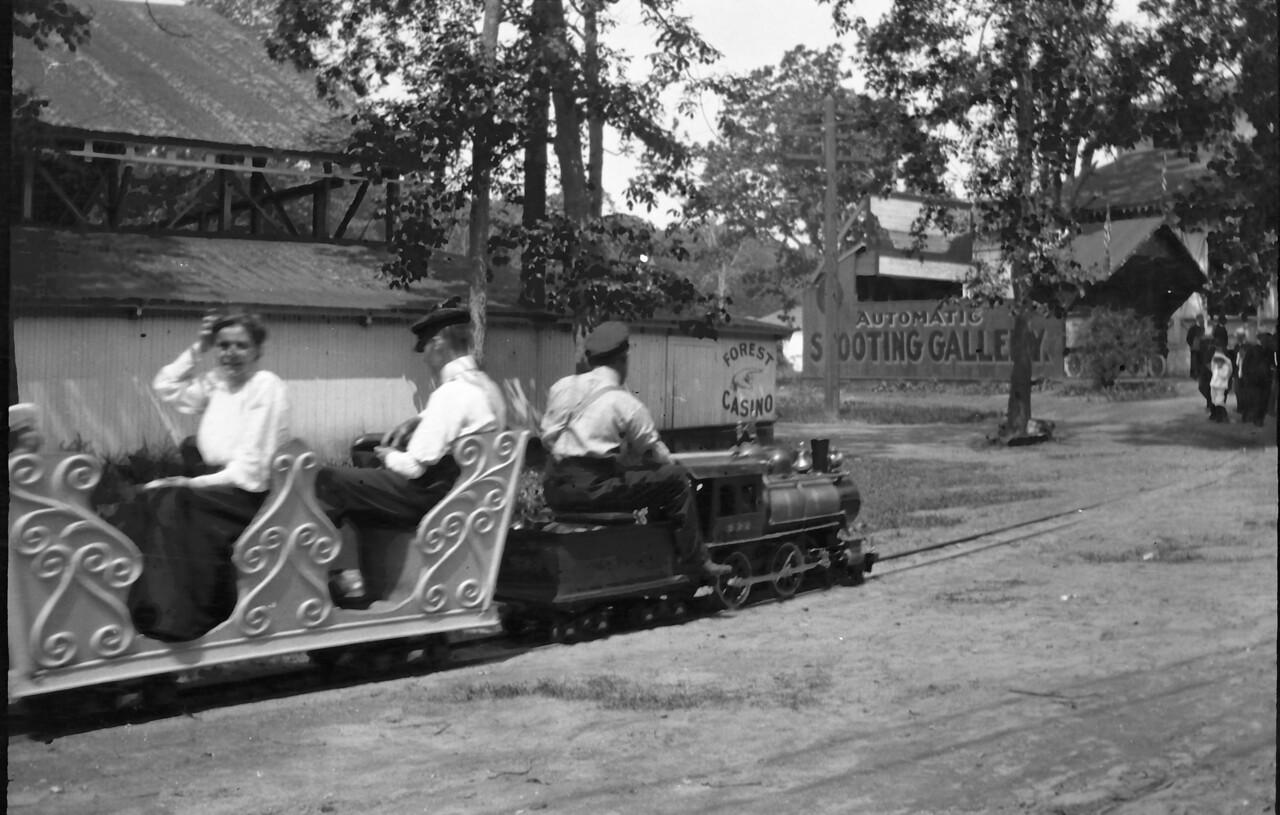 Rocky Point amusement park, miniature railway, Warwick RI.  about 1906