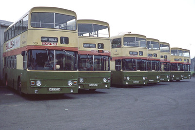 Grampian 309_252_270 Line Up Aberdeen Depot Aug 82