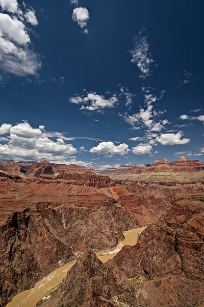 Arizona, bright angel trail, colorado river, Gran cañón, Grand Canyon, indian gardens, plateau point, rio colorado, south rim