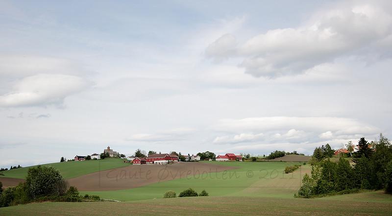 Kulturlandskap Tingelstad med St Petri - vår (St Petri church in spring)