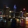 Light show at night in Hong Kong