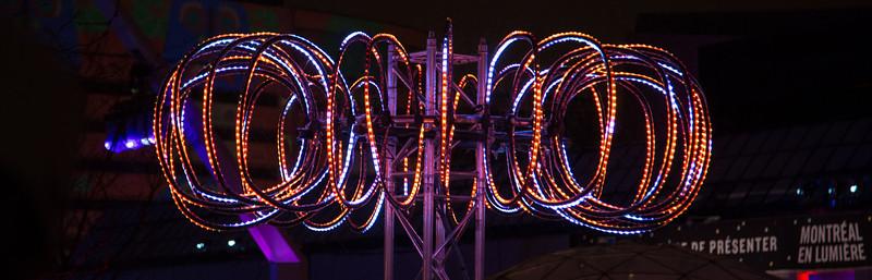 LED light spiral.
