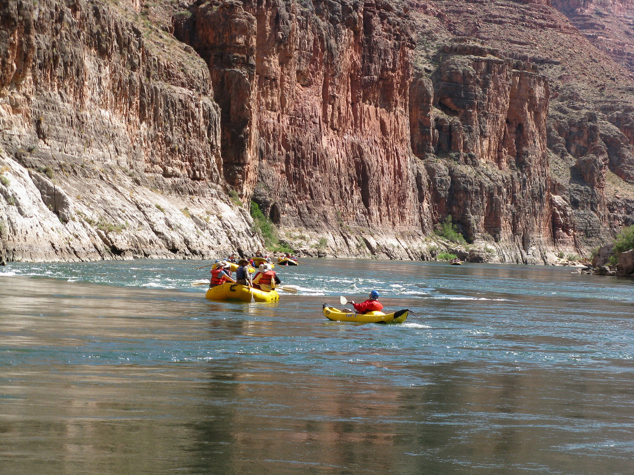 Another view as they float through the rapid.