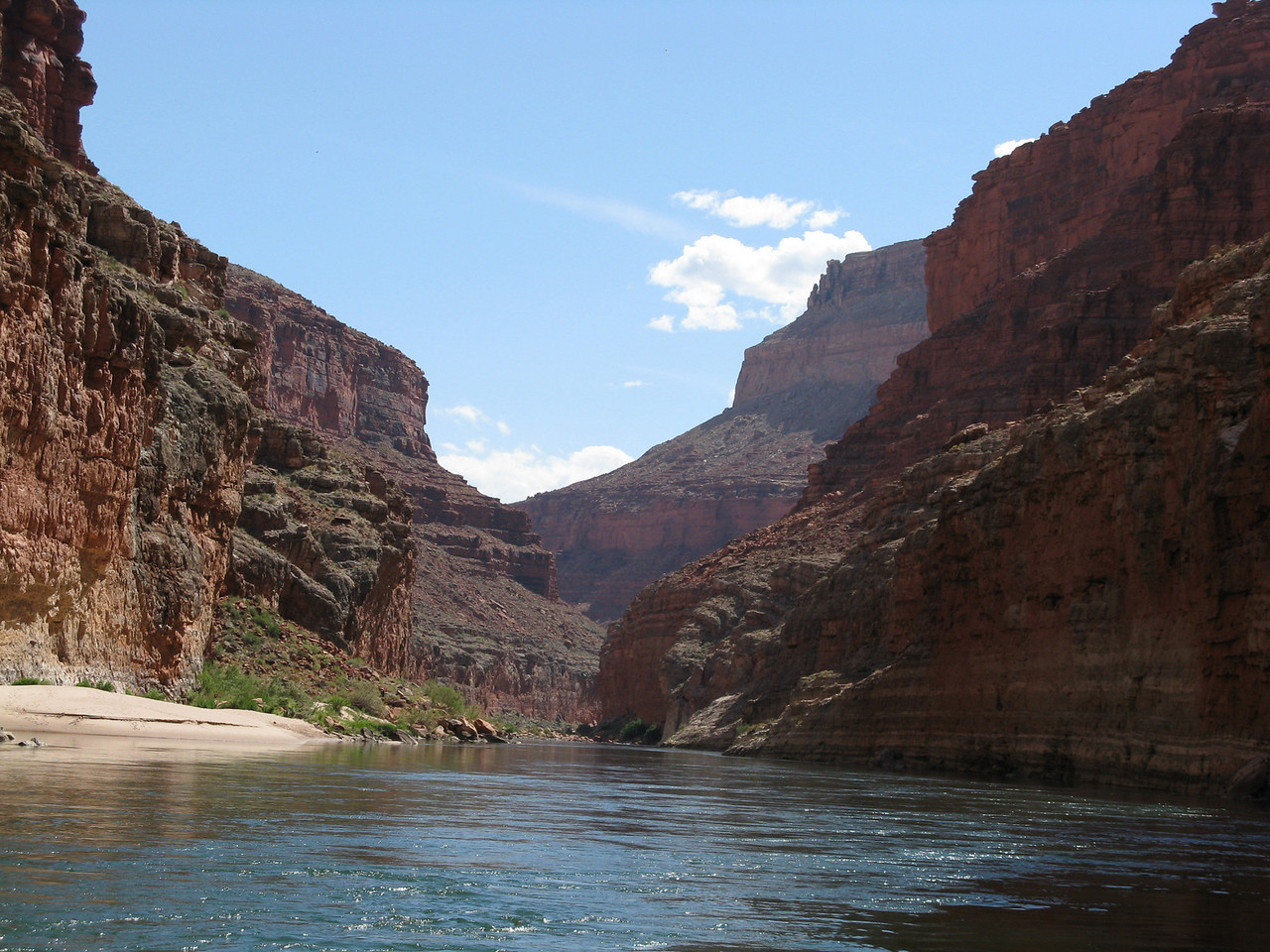 About mile 24:  Flat water in Marble Canyon.