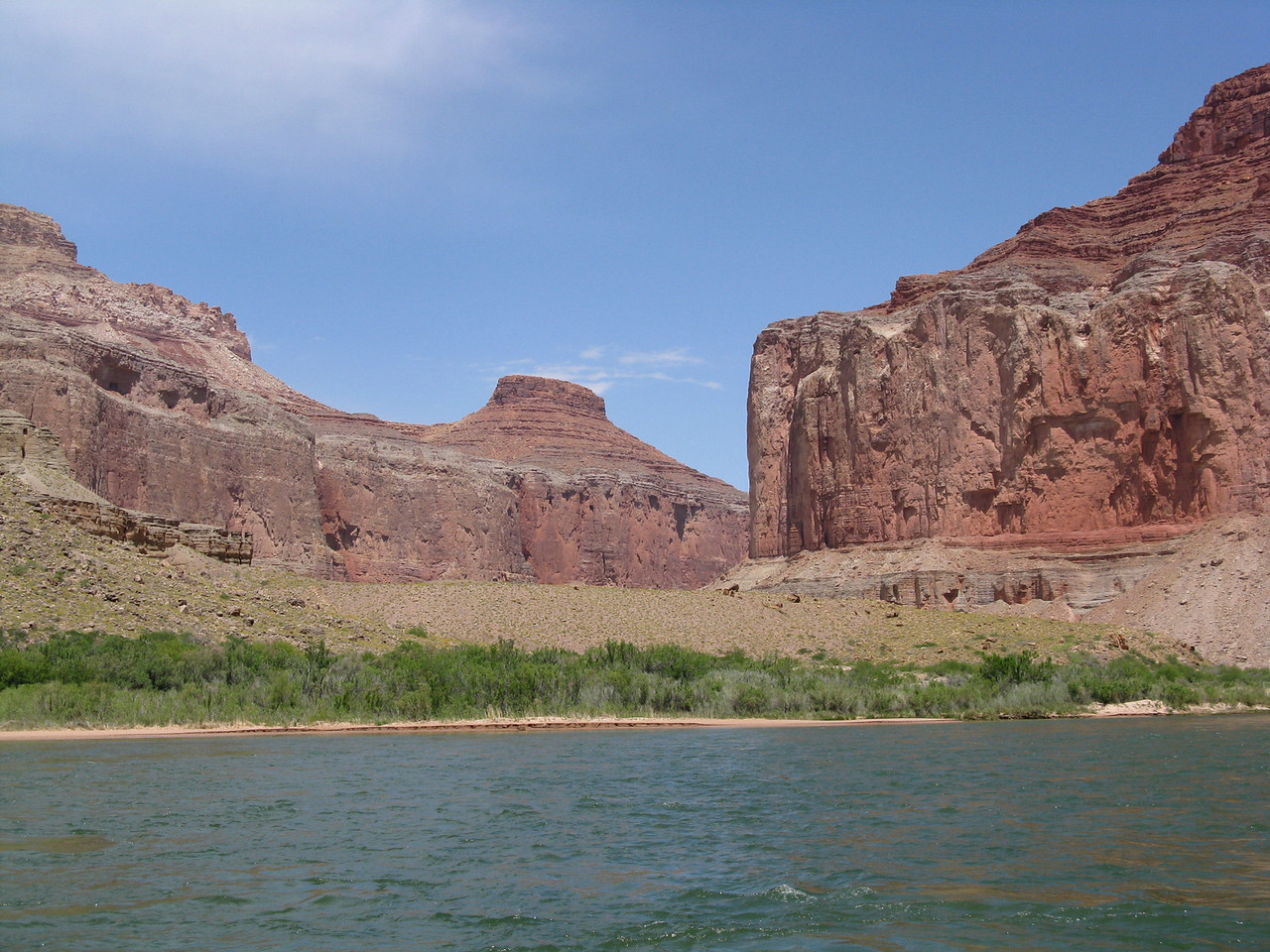 About mile 54.5: another side canyon.