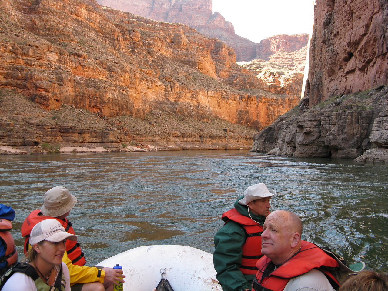 The sun begins to reflect off the inner walls of the Canyon.