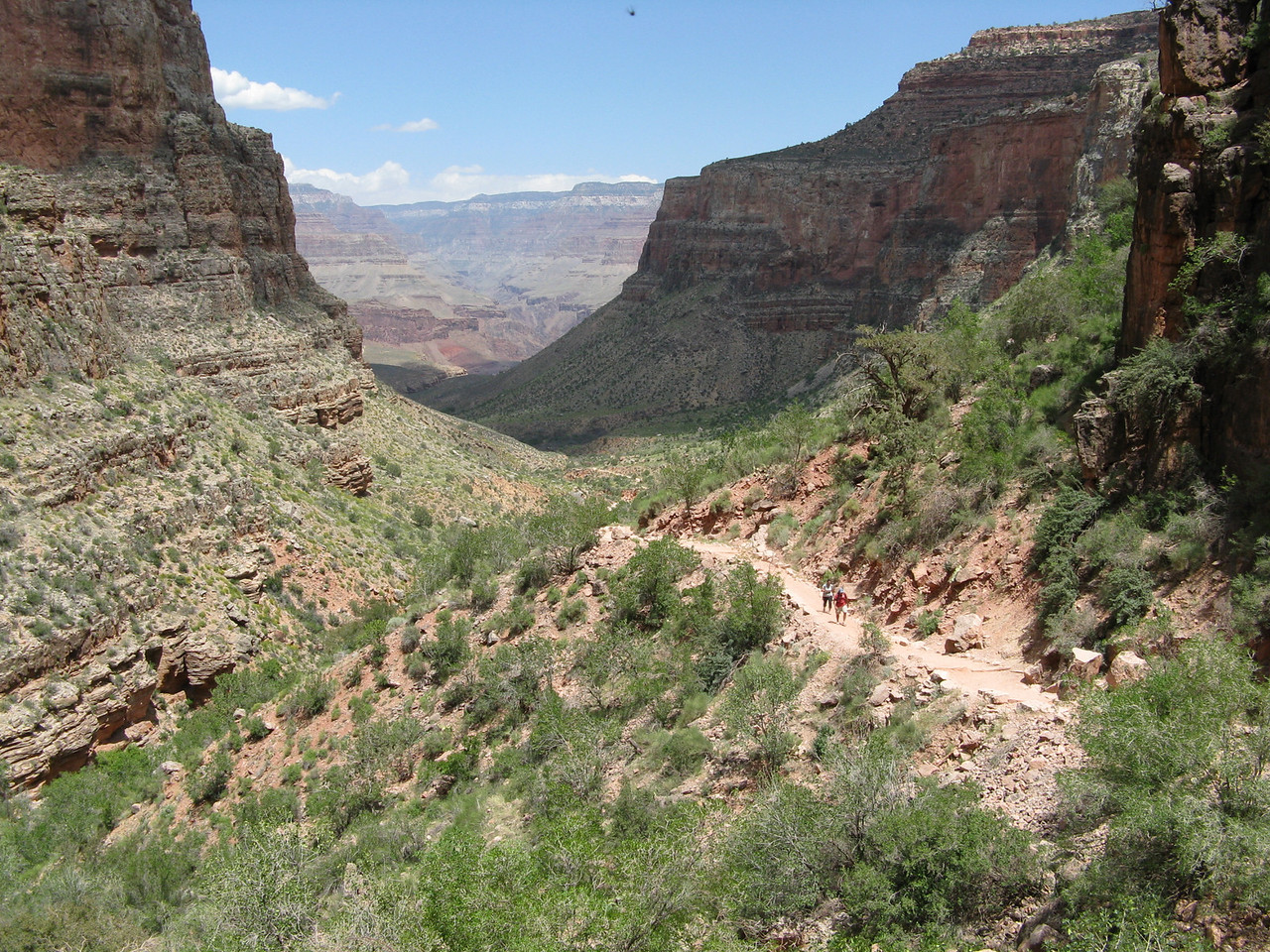 The canyon from above.