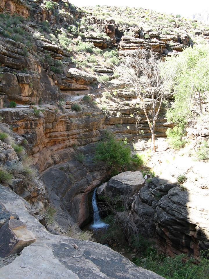 A delightful litle water fall in sandstone on Garden Creek.