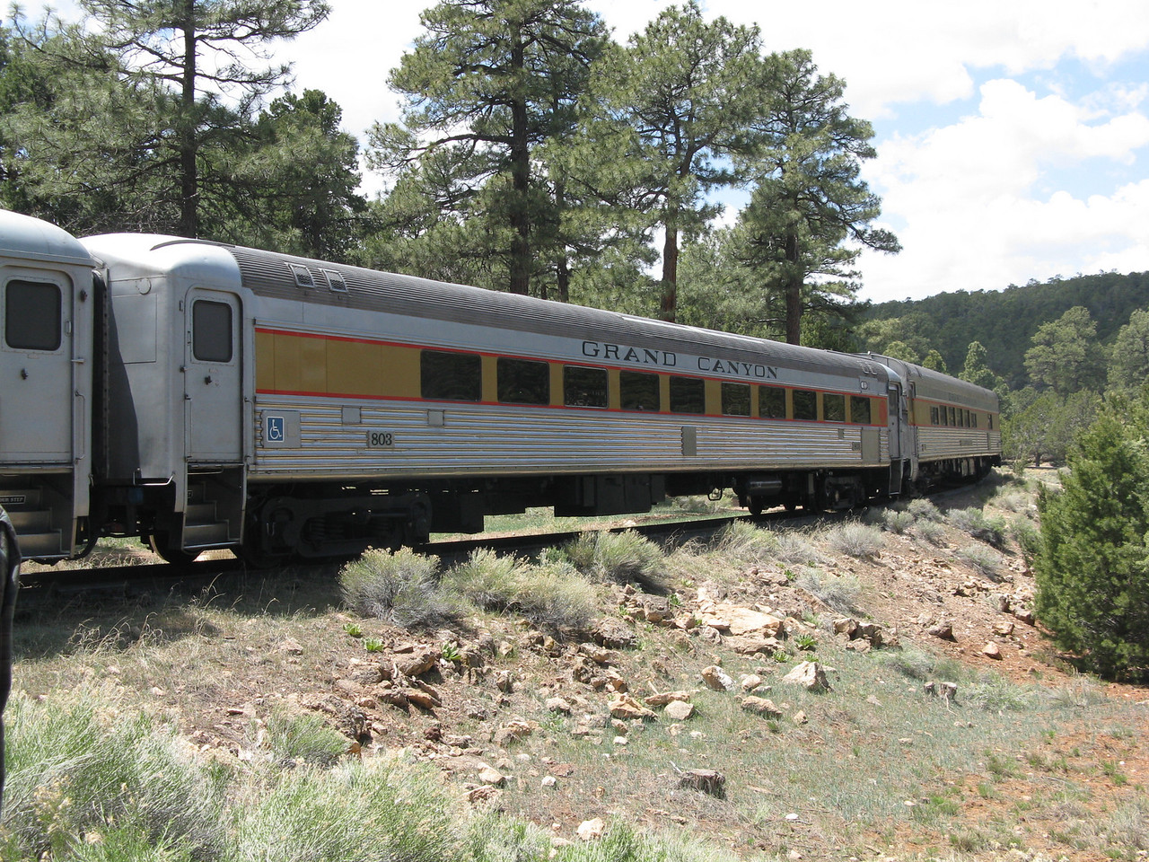 The train pulled several passenger cars.