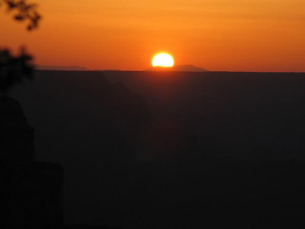 Grand Canyon Day 5:  Sunset at Yavapai Point