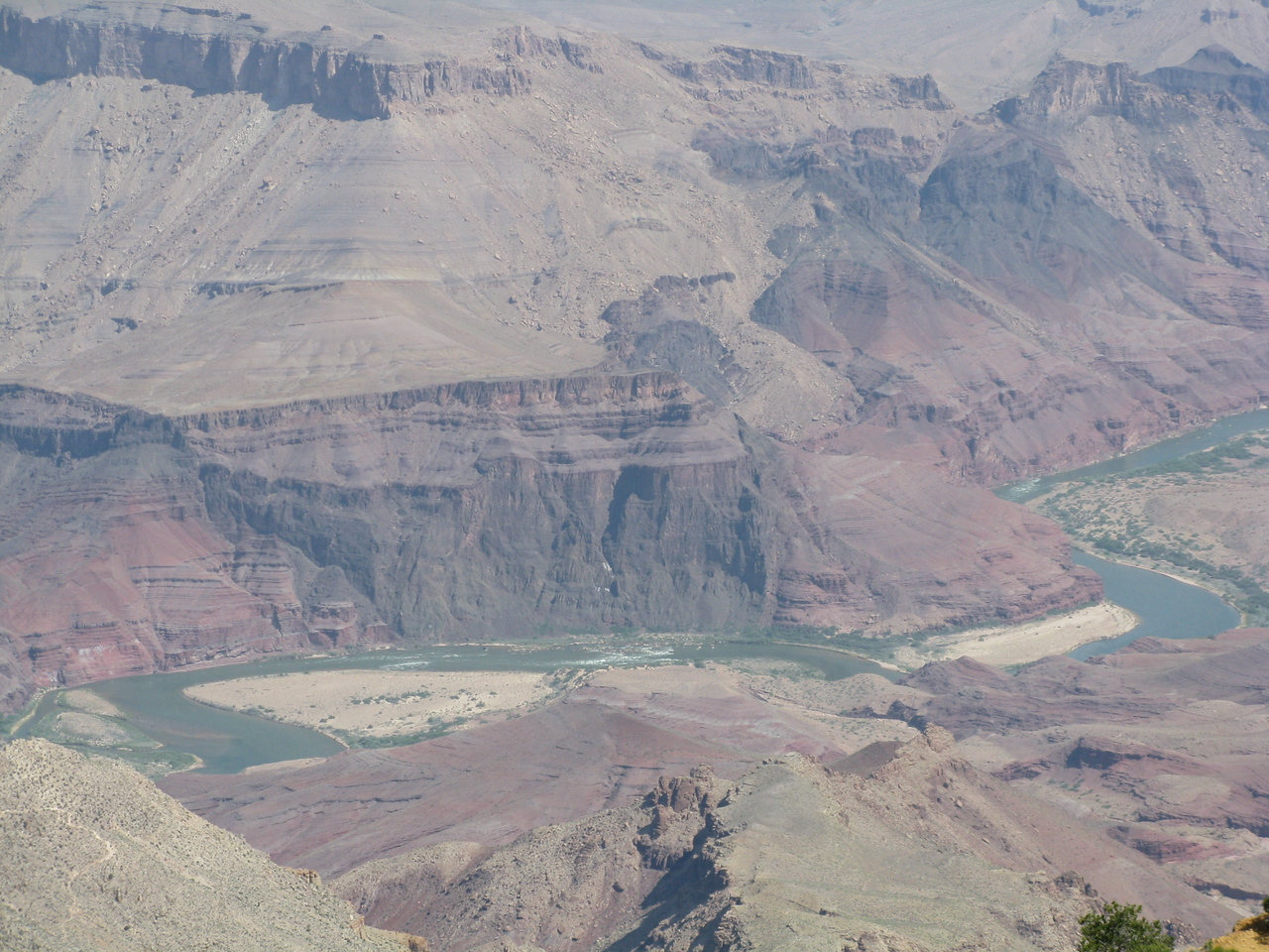 In the center of the picture is Tanner Rapid at mile 68.5.