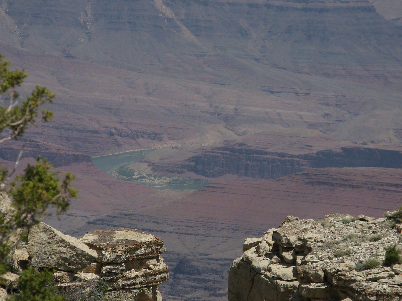 Unkar Rapid at mile 72.7 is in the center of the image.