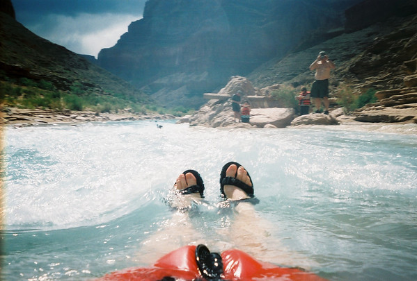 Grand Canyon Day 2 (Cont'd):  Water Sliding in the Little Colorado River