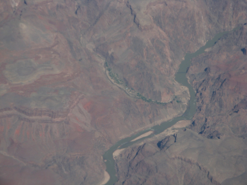 Grand Canyon from 30,000 feet, Apr 5, 2009