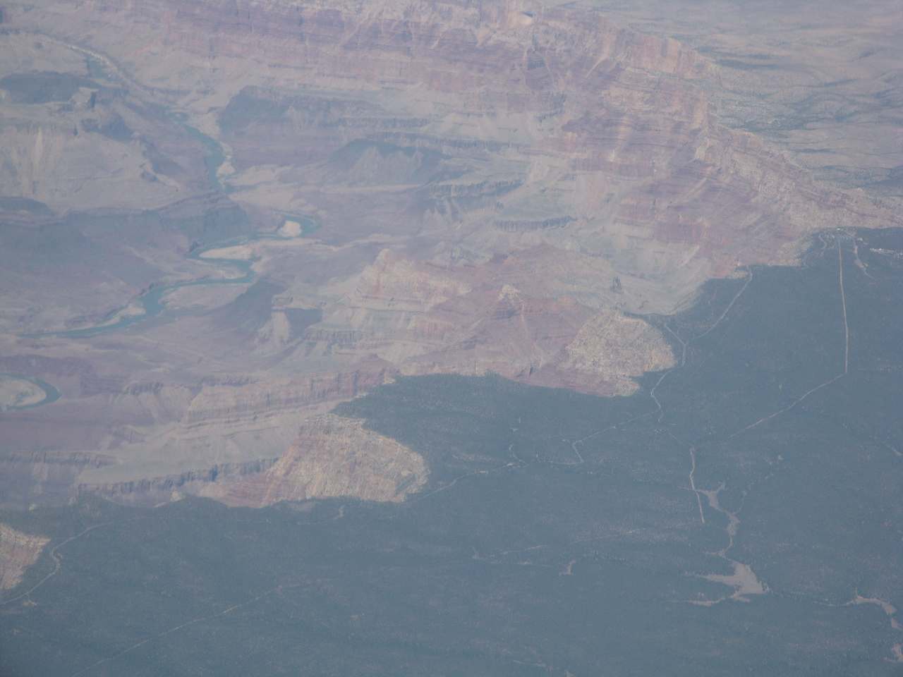Another view of the Grand Canyon with the Desert View Watchtower on the right side of the picture.